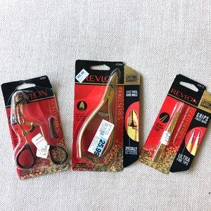 Revlon Gold Series Makeup Tools curler, tweezers